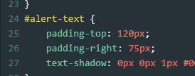 you can add more than one padding css