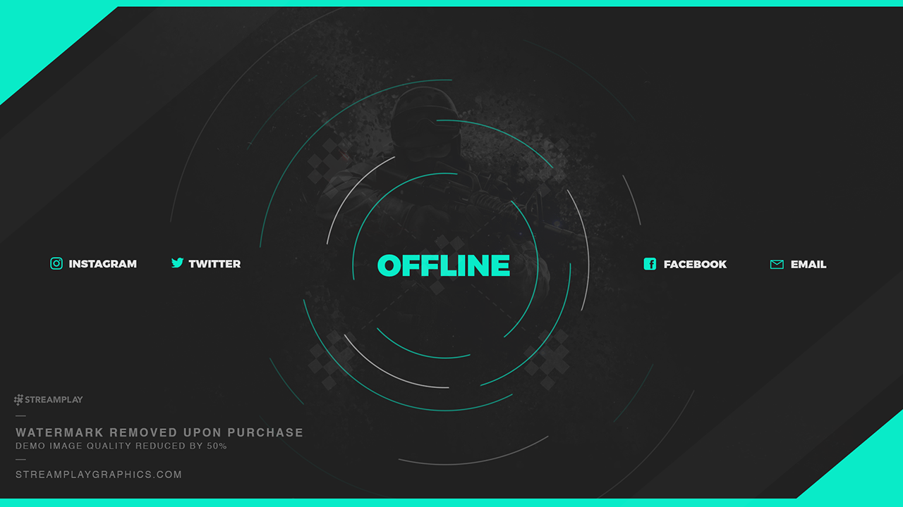 twitch layout template - twitch profile banner templates premade offline image