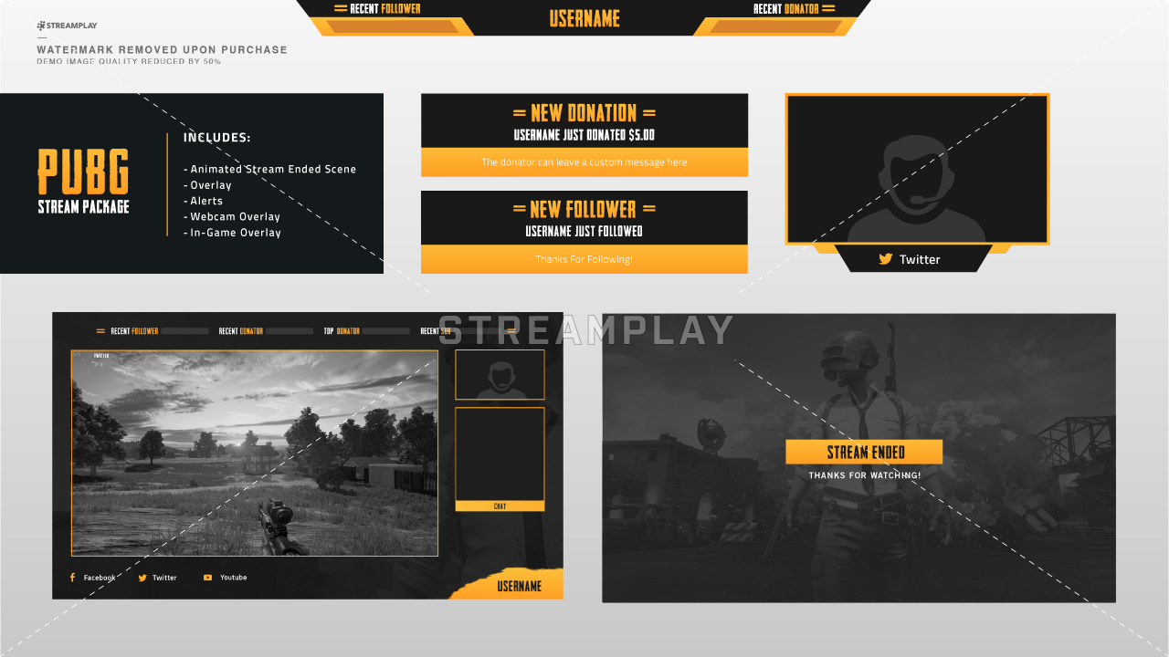 10 Pubg Logo Styles You Can Download: PUBG Streamer Package