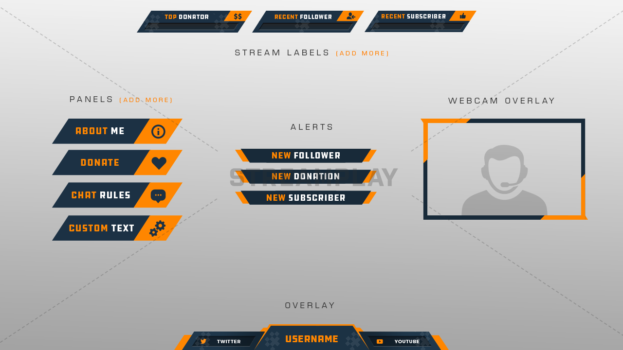 Drift Stream Package - Streamplay Graphics
