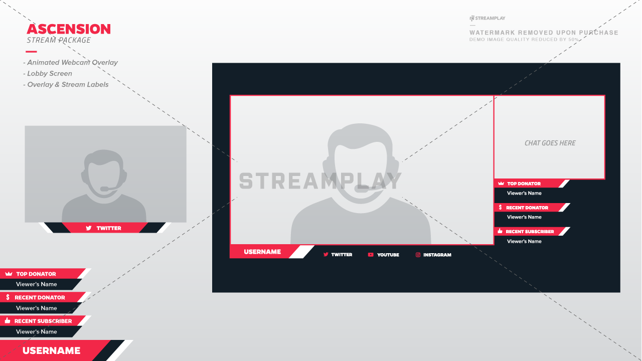 Full Twitch Stream Packages - Instant Downloads - Streamplay Graphics