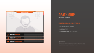 death grip twitch webcam overlay