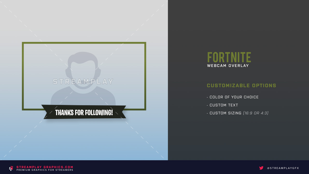 fortnite styled twitch cam overlay