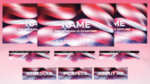 offline banner and twitch panels