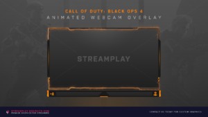 CoD Black Ops 4 Animated Webcam Overlay