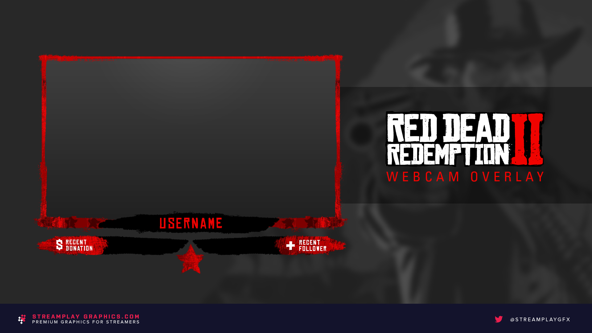 red dead redemption themed webcam overlay
