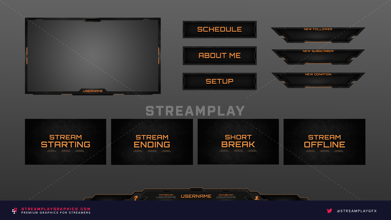 military themed graphics for streamers