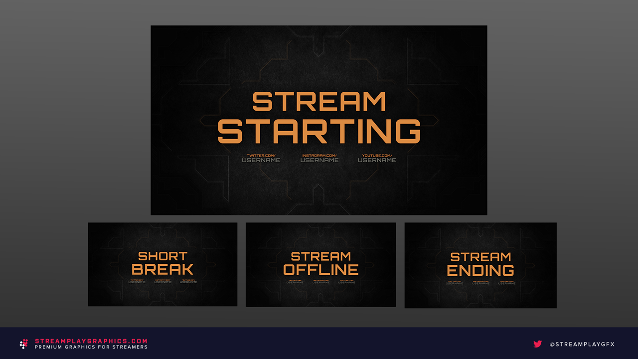 Military Stream Overlay Package - Streamplay Graphics